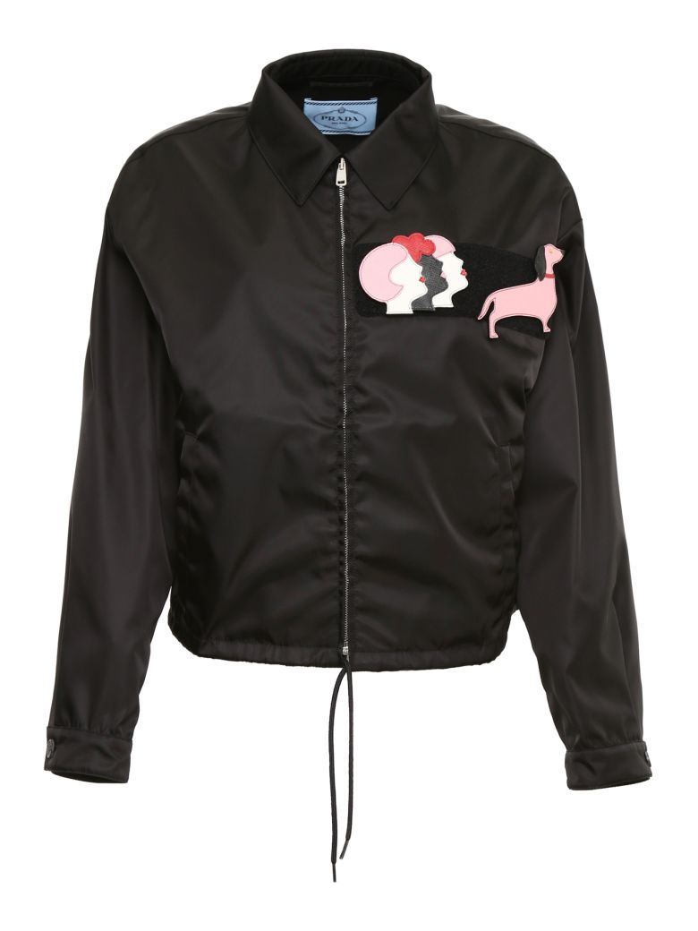 Prada Linea Rossa Nylon Gabardine Jacket With Patches - NERO|Nero