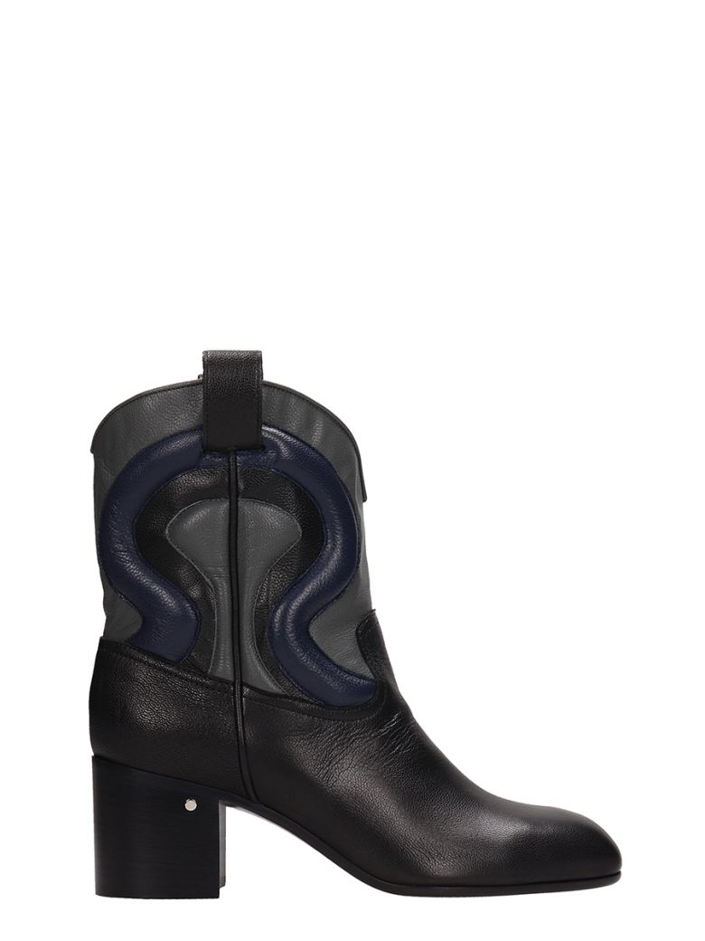 Laurence Dacade Tiago Black Leather Ankle Boots - Black