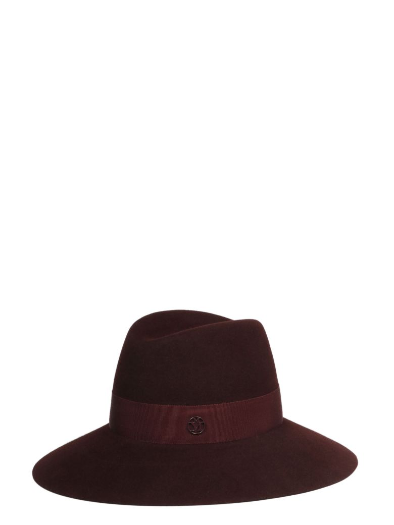 Maison Michel Hat - Red Black