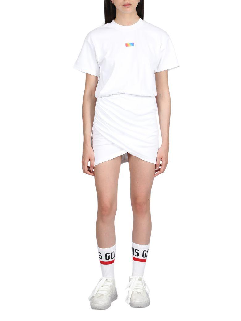 GCDS Wrapped Monster Dress - Bianco