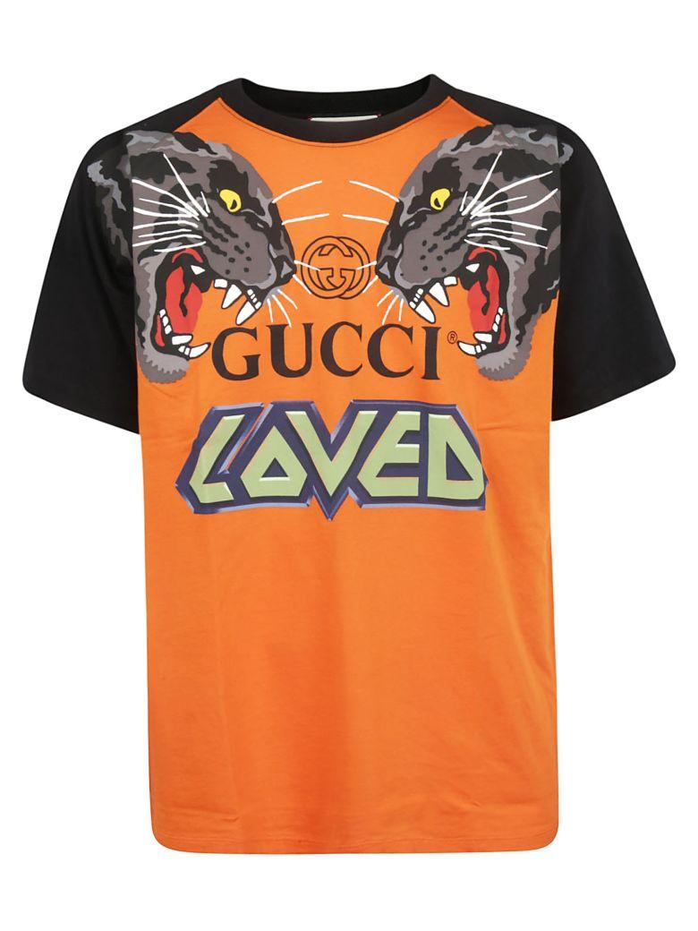 Gucci Oversized Printed T-shirt - Orange Black