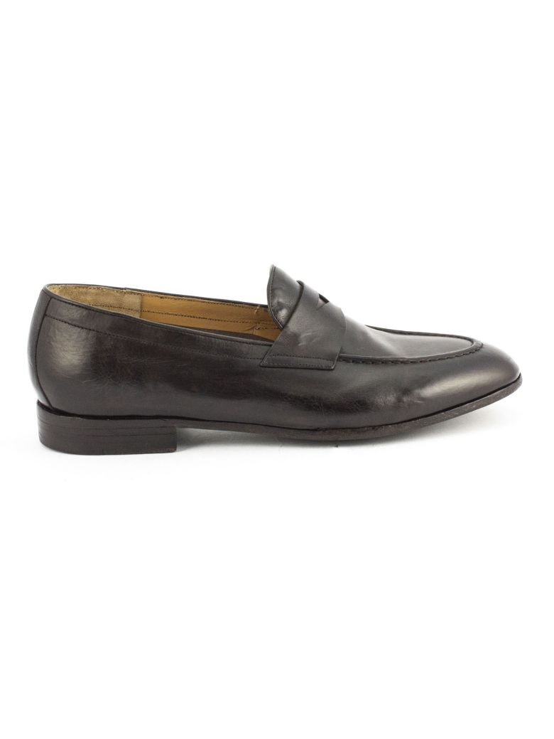 Green George Brown Maremma Leather Loafer - Testa Di Moro