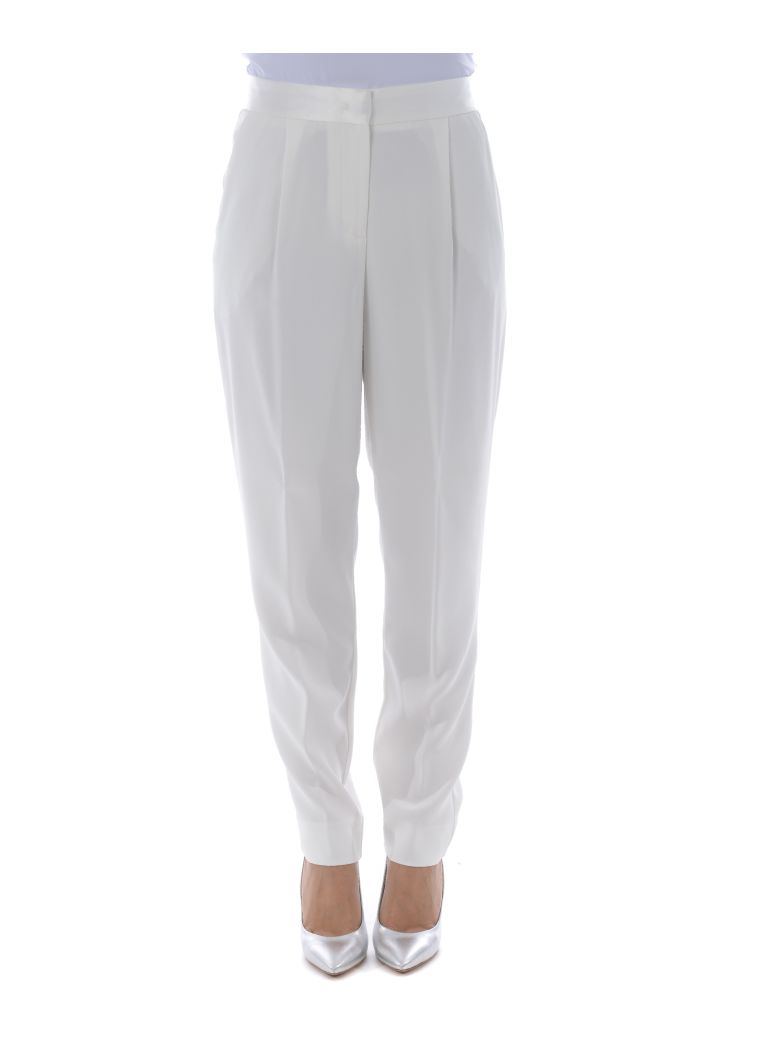 Brian Dales Pleated Trousers - Bianco latte
