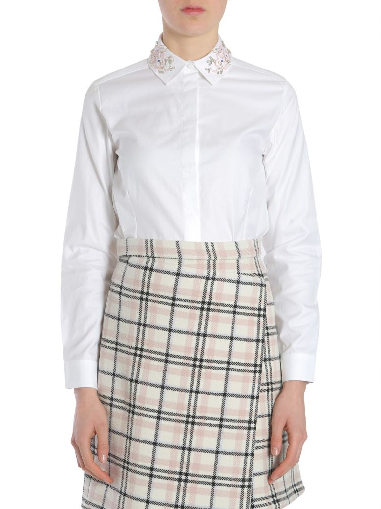 Carven Shirt With Embroidered Collar - ROSA