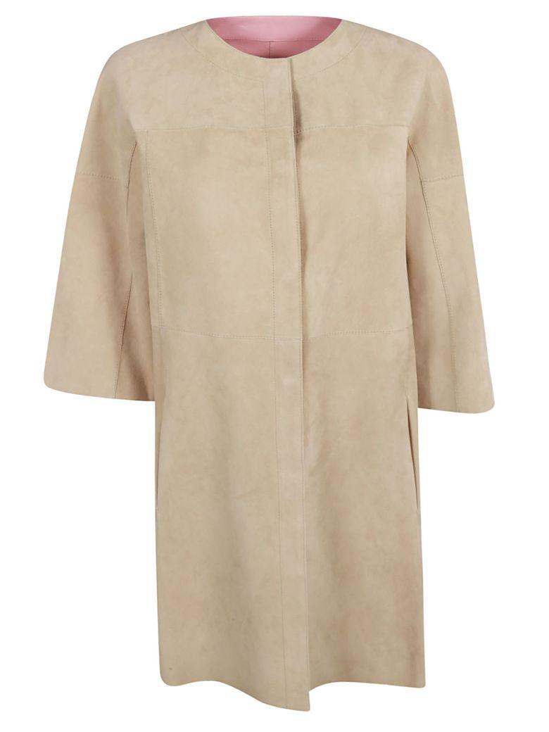 DROMe Reversible Coat - Beige/Pink