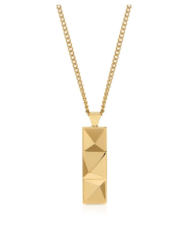 Northskull In N Out Tag Necklace Yellow Gold - Gold