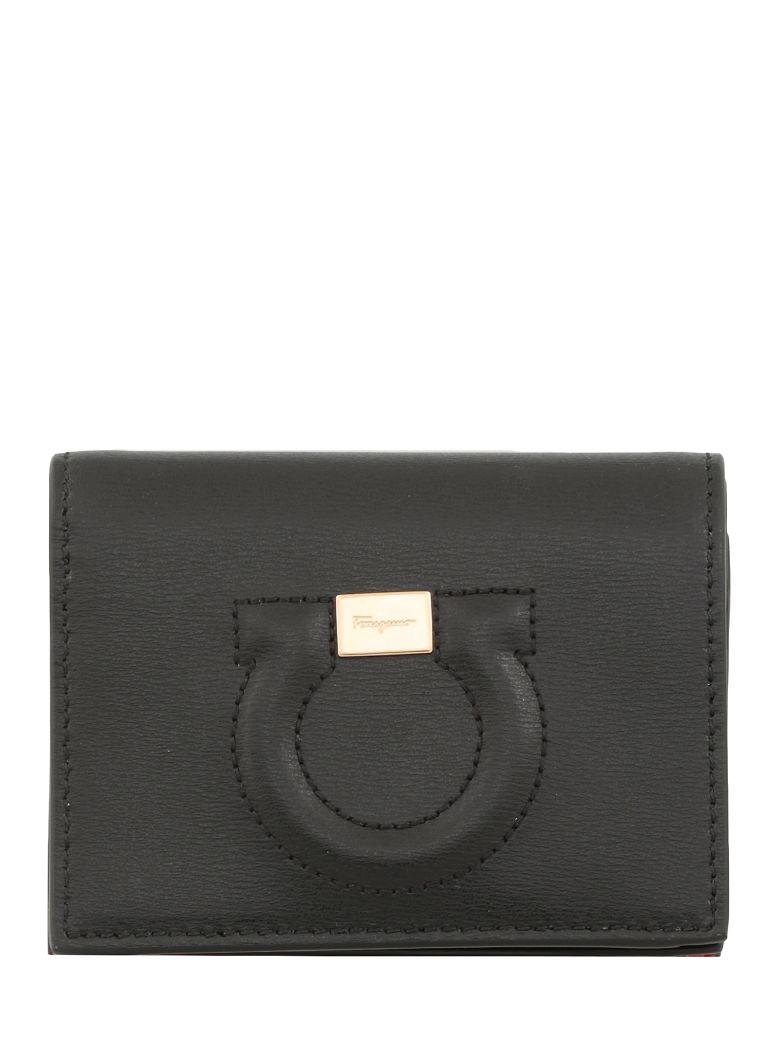 Salvatore Ferragamo Leather Wallet - Nero/rosso