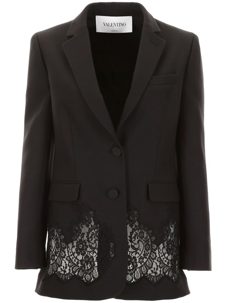 Valentino Jacket With Lace - NERO (Black)