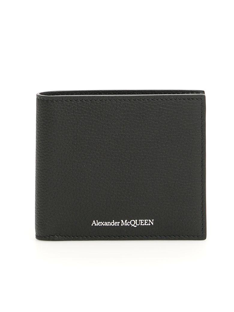 Alexander McQueen Leather Wallet - BLACK (Black)