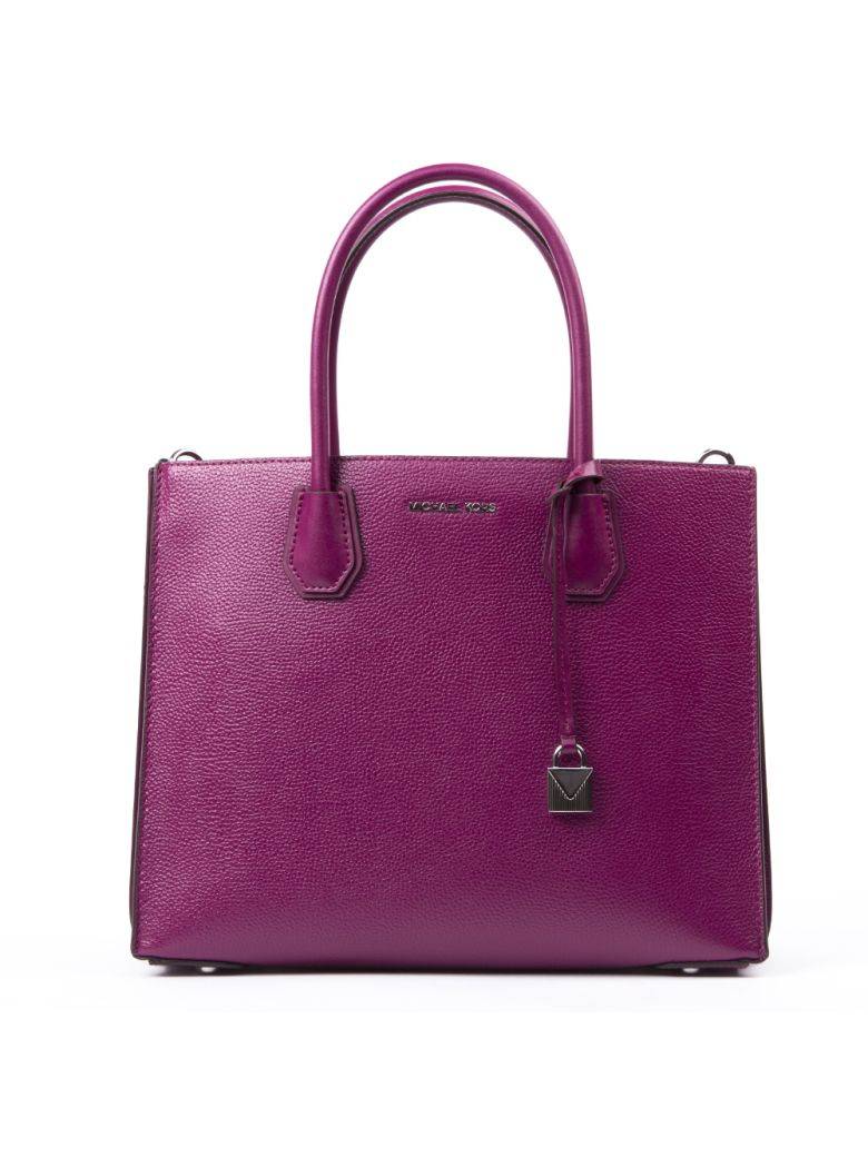 MICHAEL Michael Kors Big Mercer Fuxia Leather Tote Bag - Fuchsia