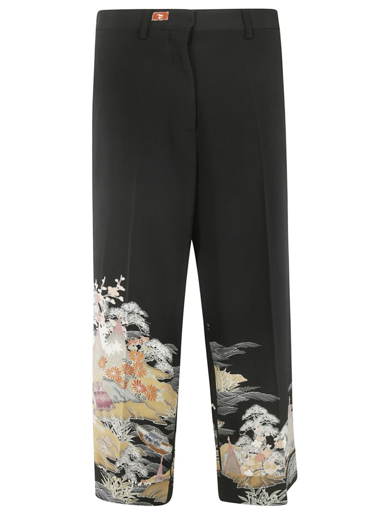 Ibrigu Bottom Printed Detail Trousers - Fantasy2