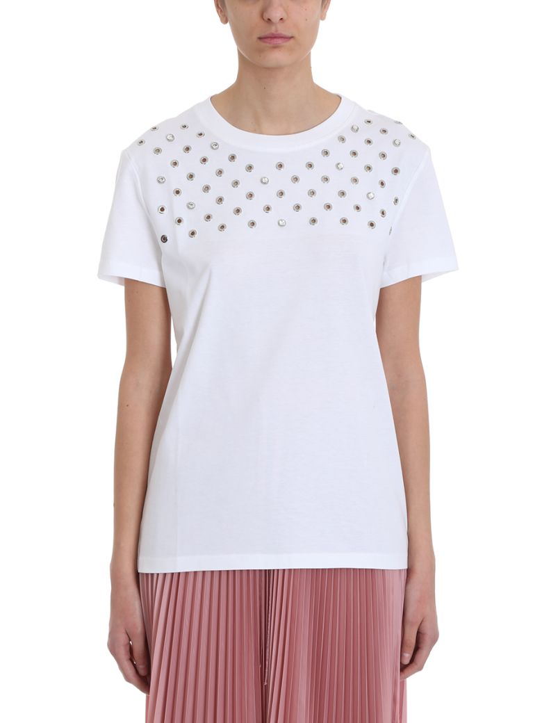 RED Valentino White Cotton T-shirt - white