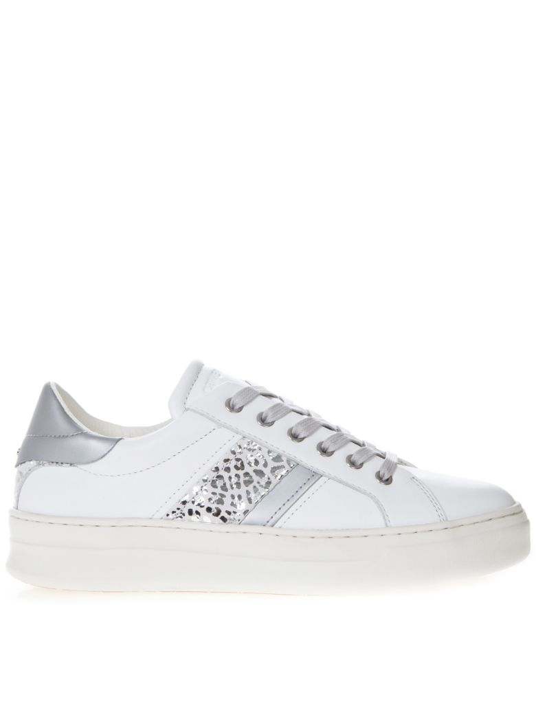Crime london Sonik White Leather Low-top Sneakers - White