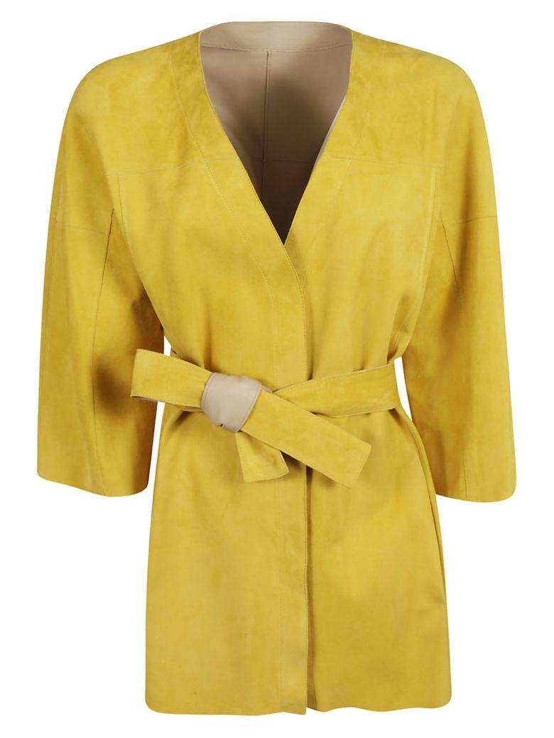 DROMe Belted Coat - Yellow/Beige