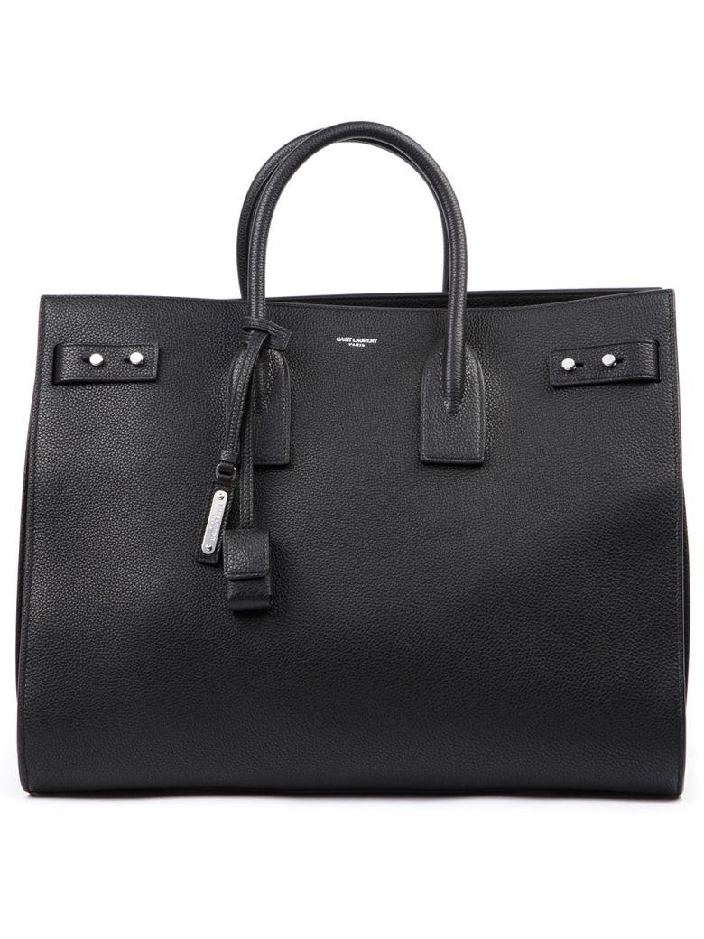 Saint Laurent Black Leather Handbag - Black