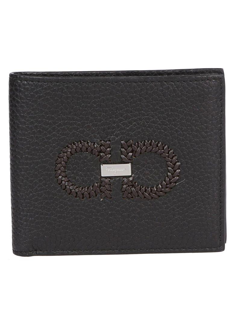 Salvatore Ferragamo Signature Logo Wallet - Black