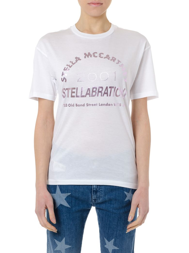 Stella McCartney Stellabration White Cotton T-shirt - Pure white