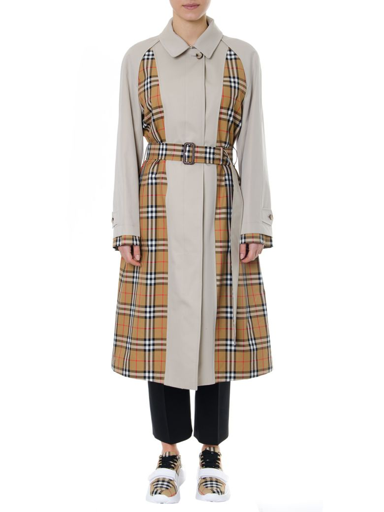 Burberry Guiseley Vintage Check Trench Coat - Stone/antique yellow