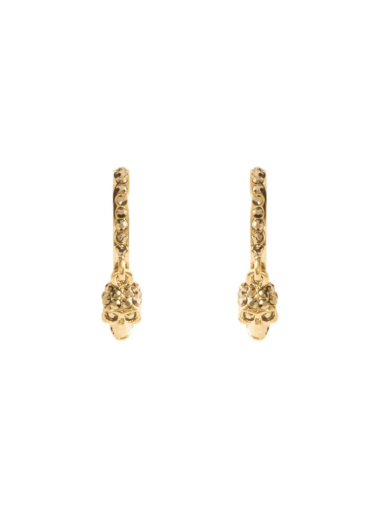 Alexander McQueen Skull Hoop Earrings - ORO (Metallic)