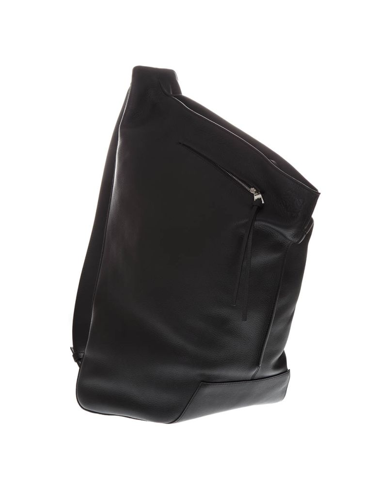Loewe Anton Black Leather Backpack - Black