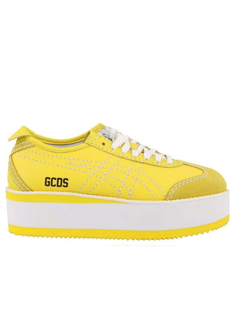 GCDS Mexico Platform Sneakers - Yellow