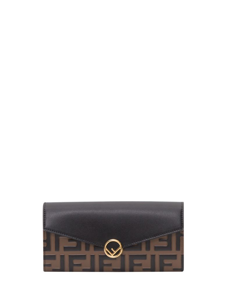 Fendi Continental F Is Fendi Wallet - Black
