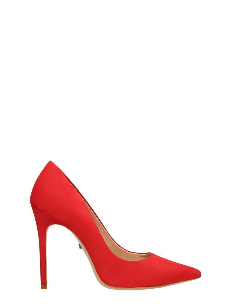 Schutz Red Suede Leather Pumps - red