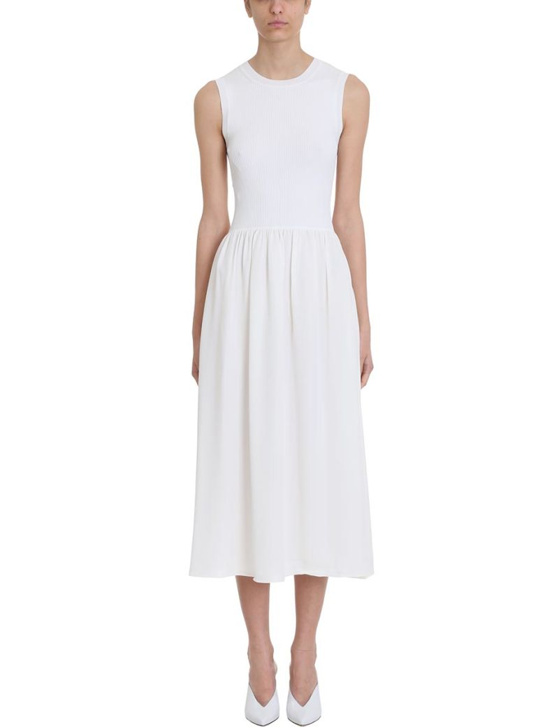 Theory White Silk Dress - white