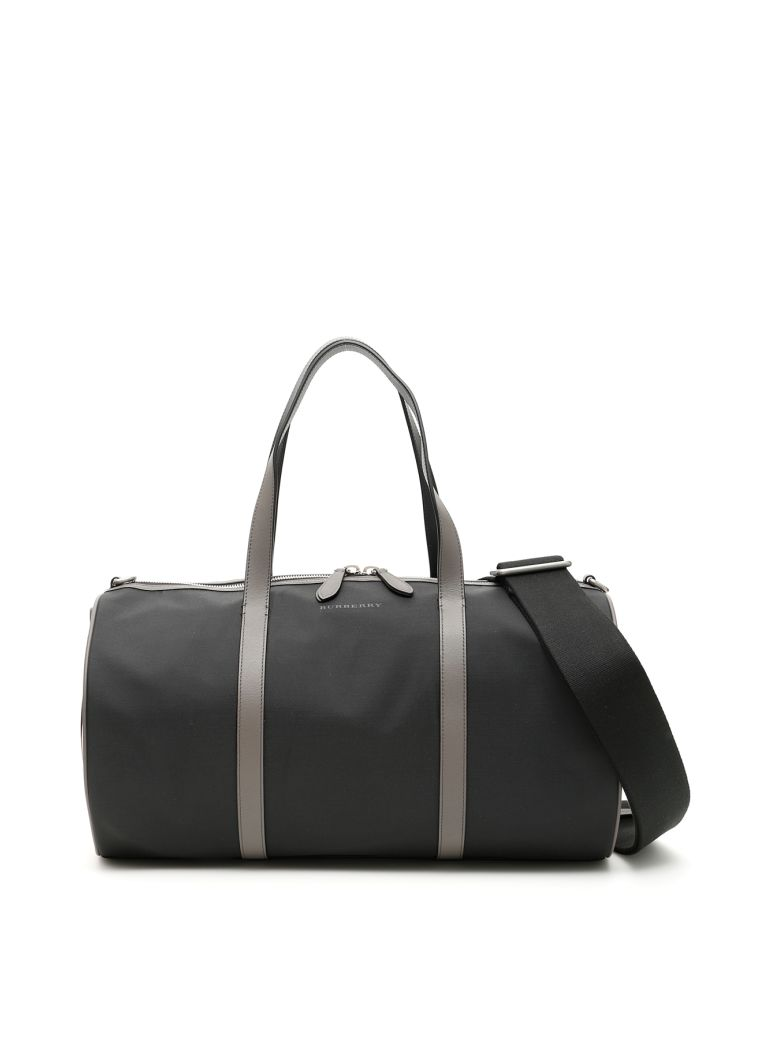 Burberry Medium Kennedy Duffle Bag - BLACK|Beige