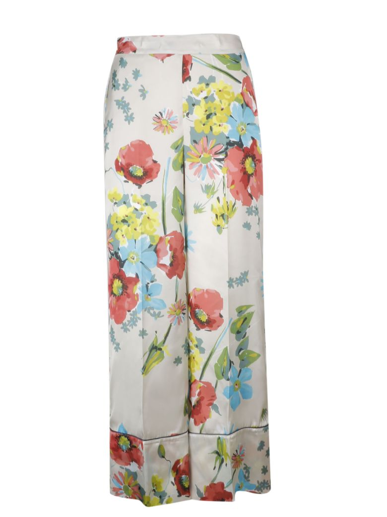 SEMICOUTURE Floral Print Trousers - Camp