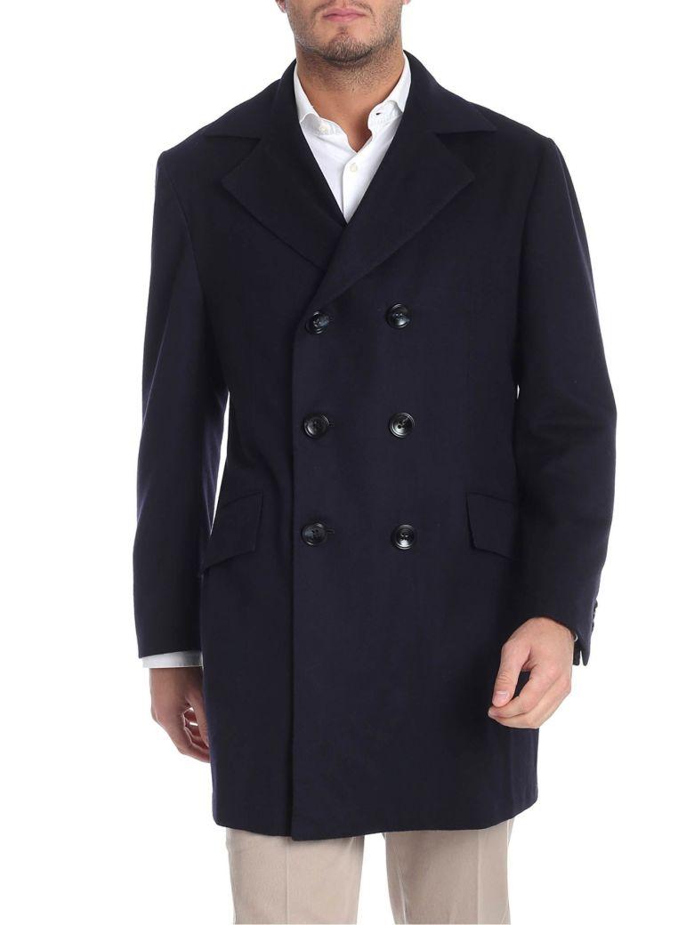 Kiton Coat Cashmere - Blue