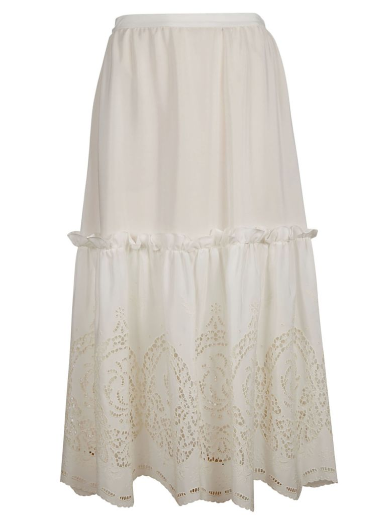 Stella McCartney Laced Long Skirt - White
