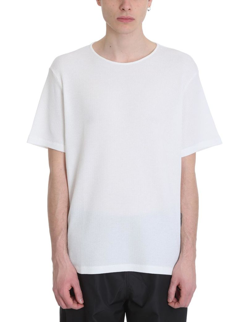 Our Legacy Ivory White Honeycomb Cotton T-shirt - White