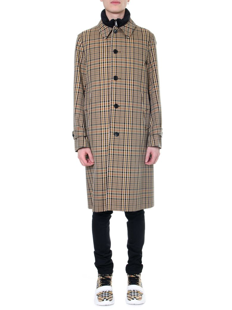 Burberry Cotton Trench Print Check Archive 1920s - Camel