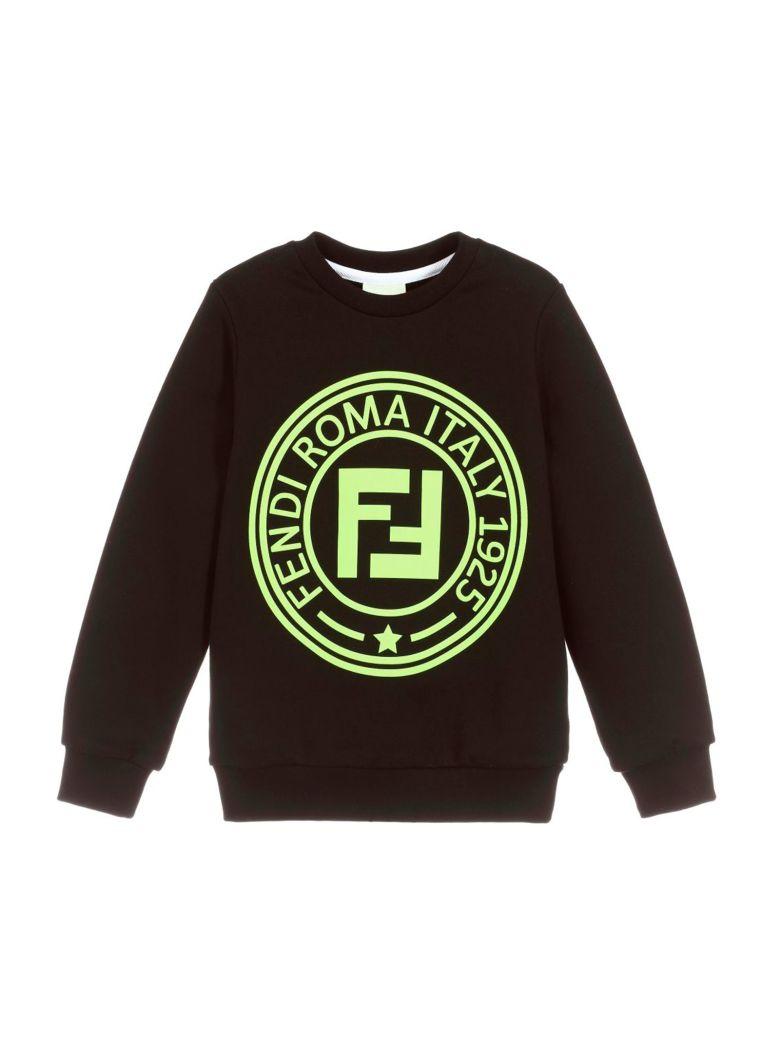 Fendi Black Sweatshirt - Nero/giallo