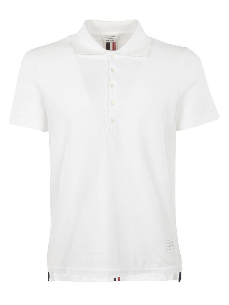 Thom Browne Signature Stripe Polo Shirt - WHITE