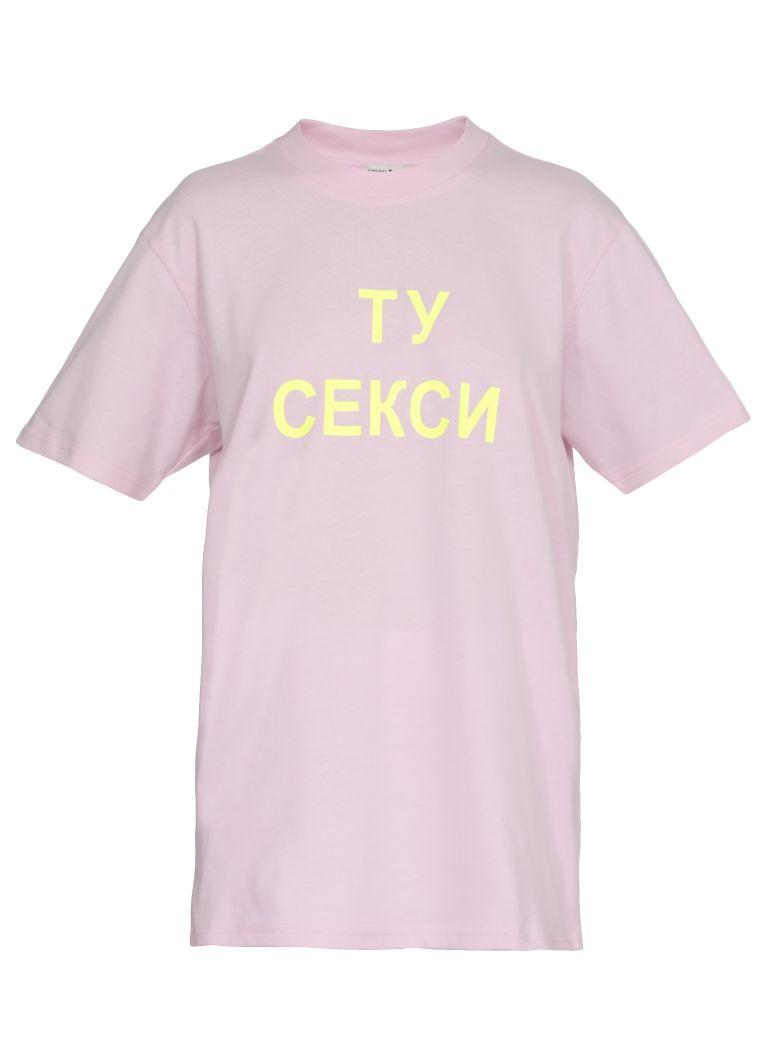 Natasha Zinko Too Seksy T-shirt - PINK