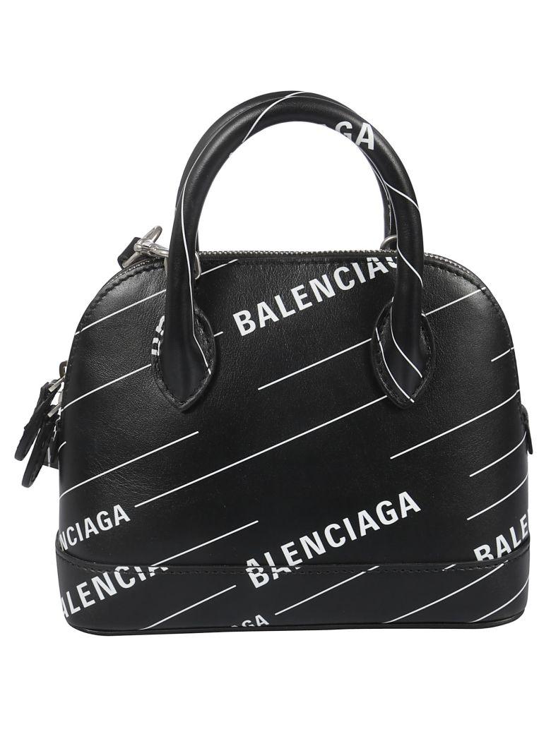 Balenciaga Ville Xxs Tote - Noir Blanc