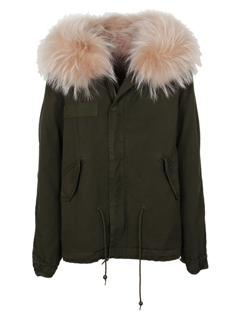 Mr & Mrs Italy Mr & Mrs Fox Fur Trim Parka - Green