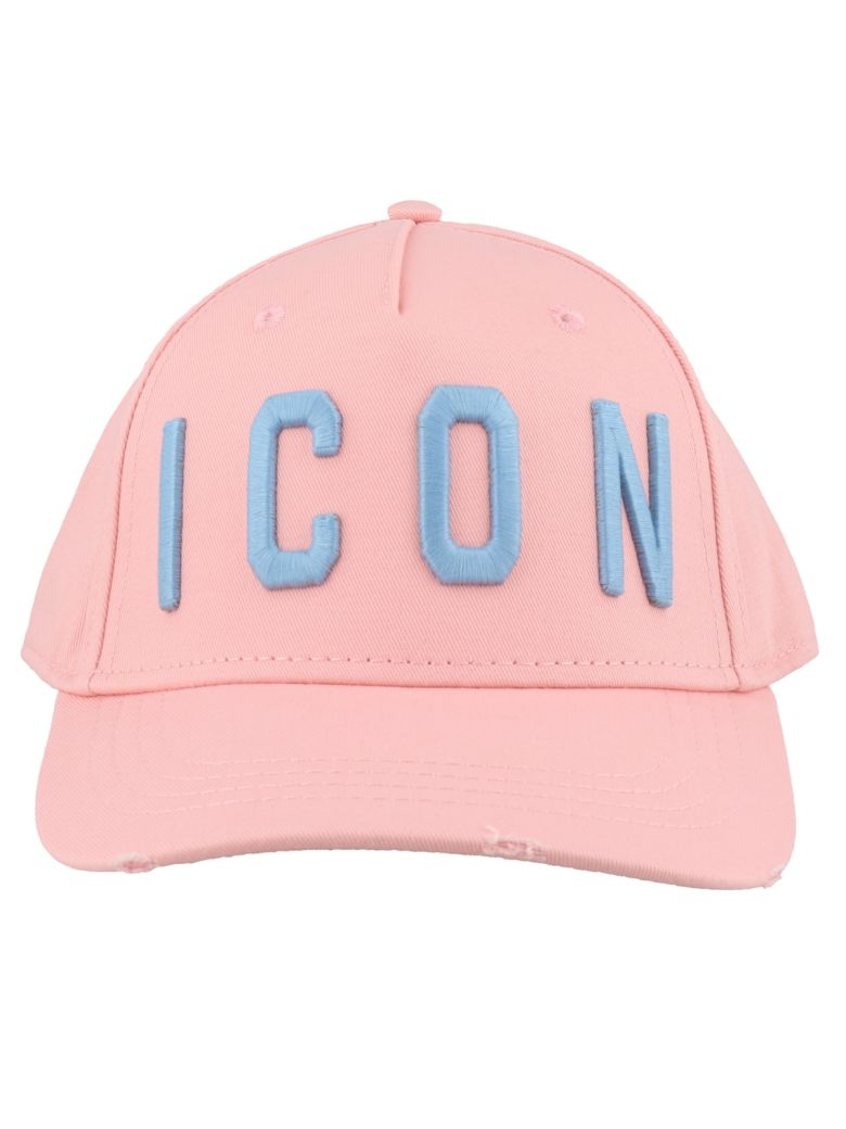 Dsquared2 Icon Baseball Cap - Pink/ light blue