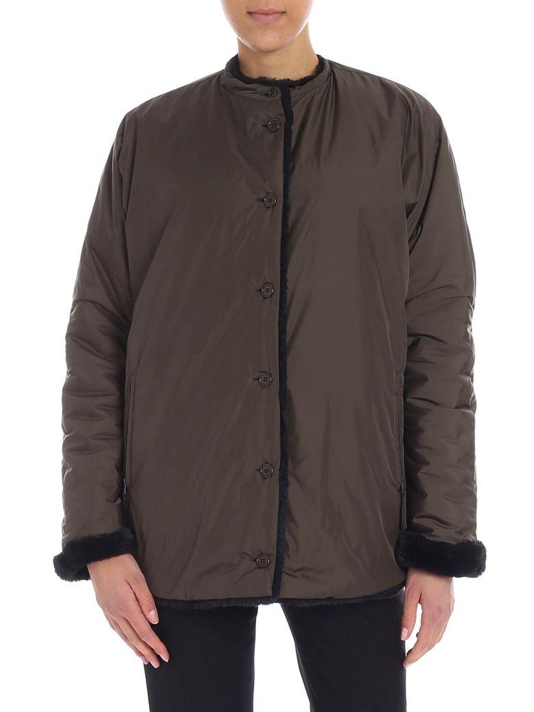 Aspesi Faux Fur Lined Jacket - Verde
