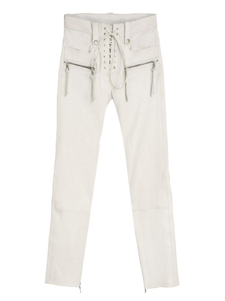 Ben Taverniti Unravel Project Vintage Leather Trousers - White