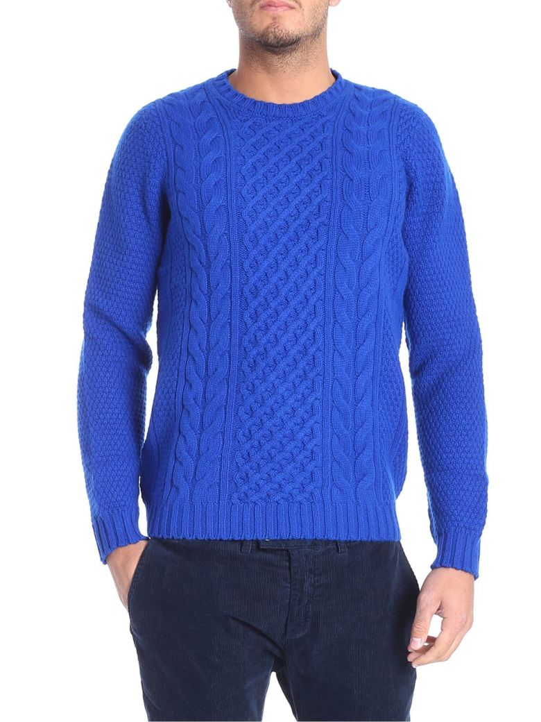 Drumohr Round Neck Wool - Light blue