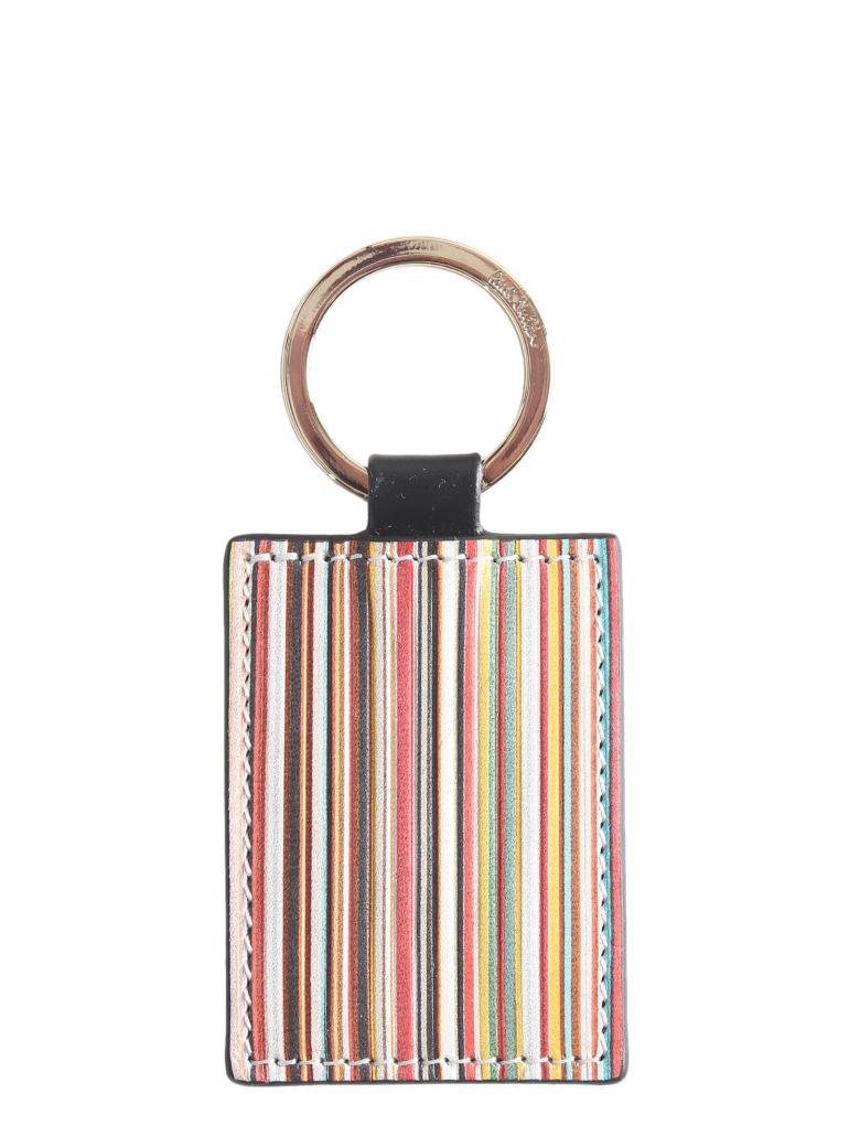 Paul Smith Leather Keychain - NERO