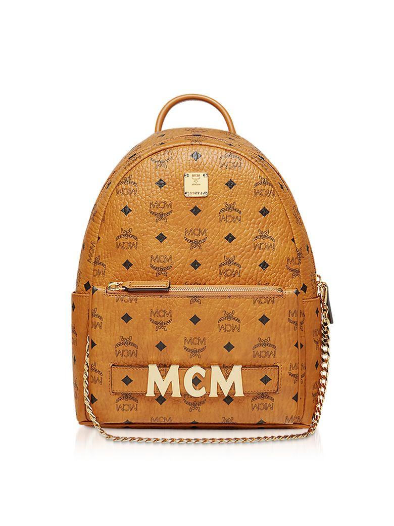 MCM Cognac Trilogie Stark Small Backpack - Cognac