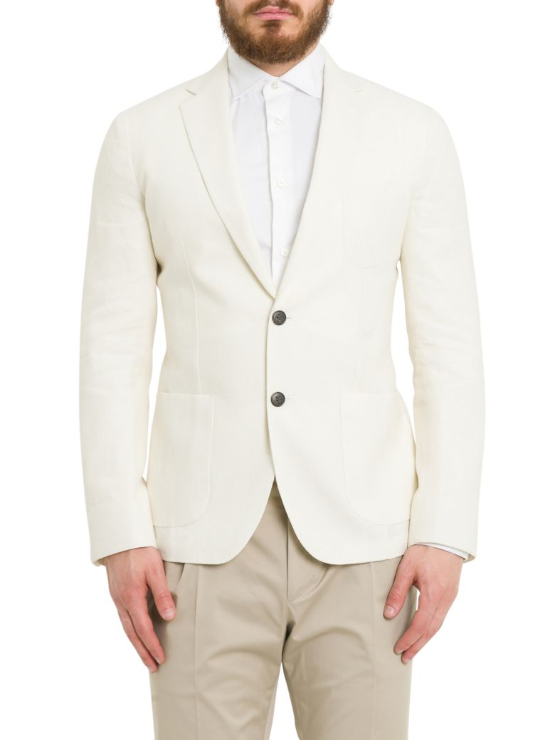 Brian Dales Two Buttons Blazer - Bianco
