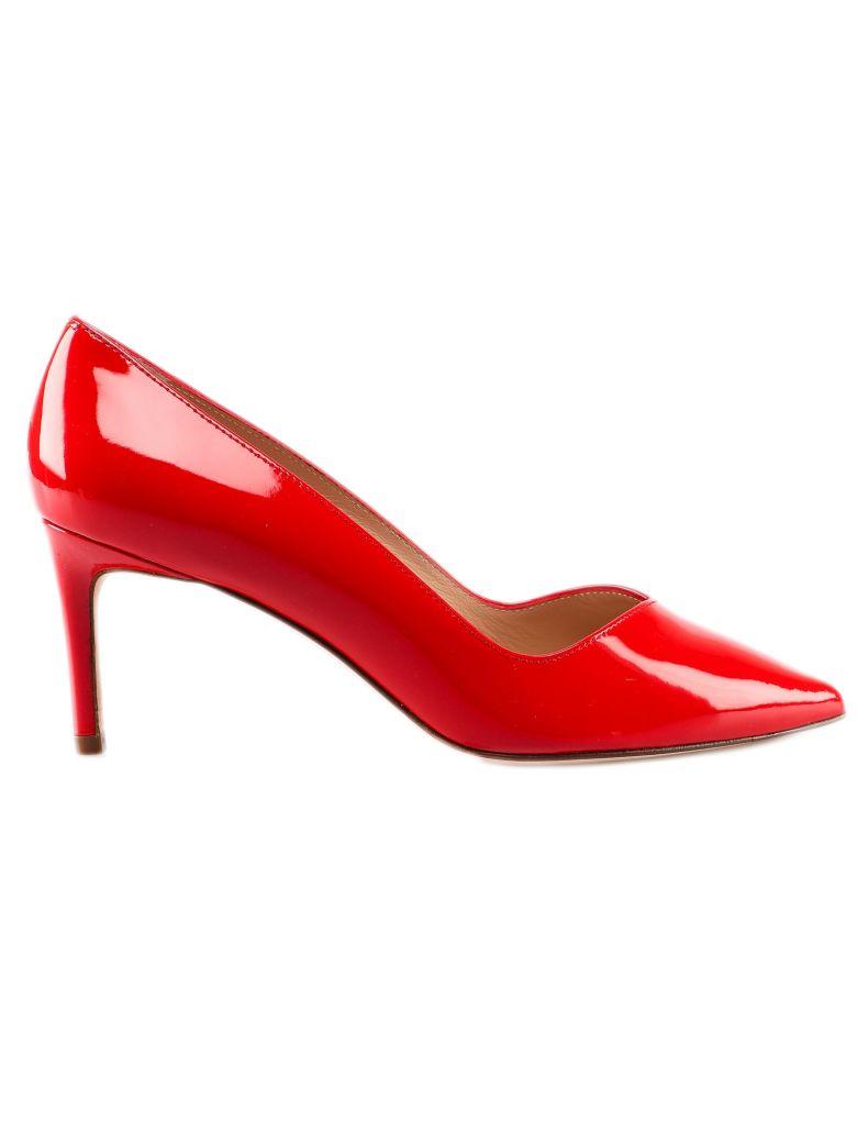 Stuart Weitzman Patent Mid-heel Pumps - Followme Red