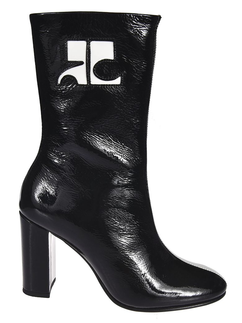 Courrèges Color Contrast Boots - Nero