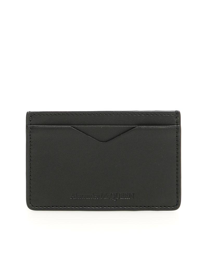 Alexander McQueen Embossed Cardholder - BLACK (Black)