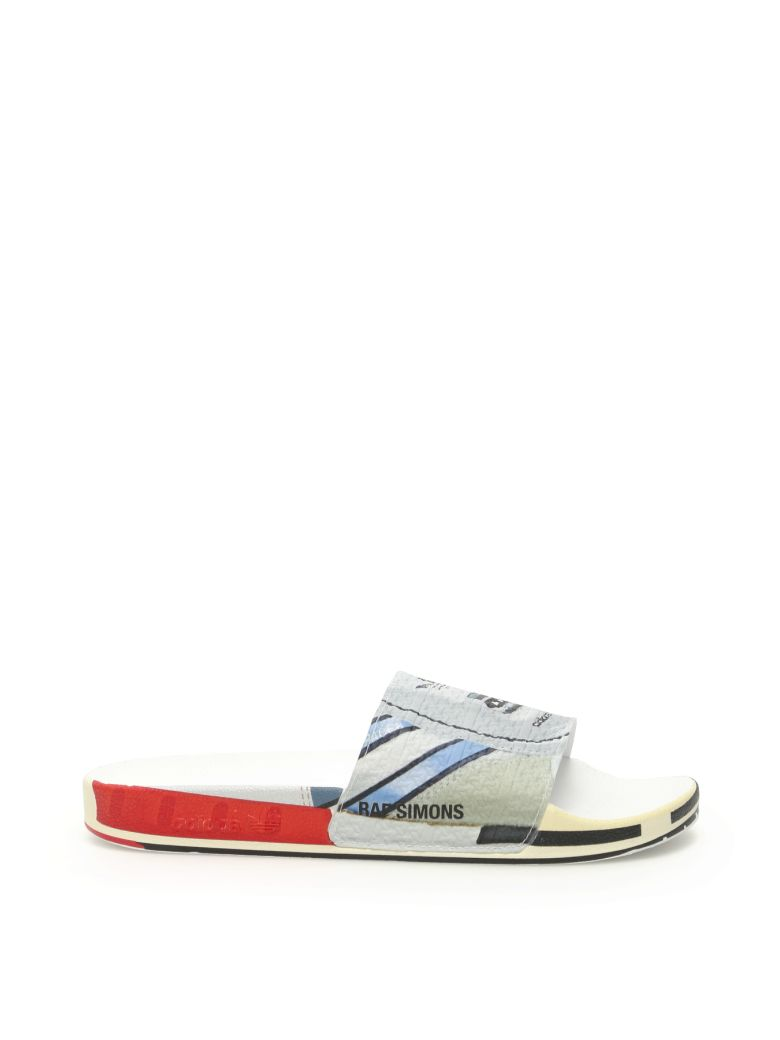 Adidas By Raf Simons Rs Micro Adilette Slides - SILVMT BRIRED BRIRED (Grey)